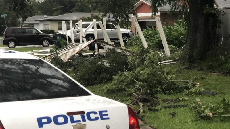 Storm damage along Argentine Drive