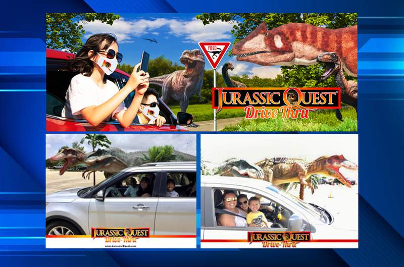 Jurassic Quest drive-thru experience comes to TIAA Bank Field