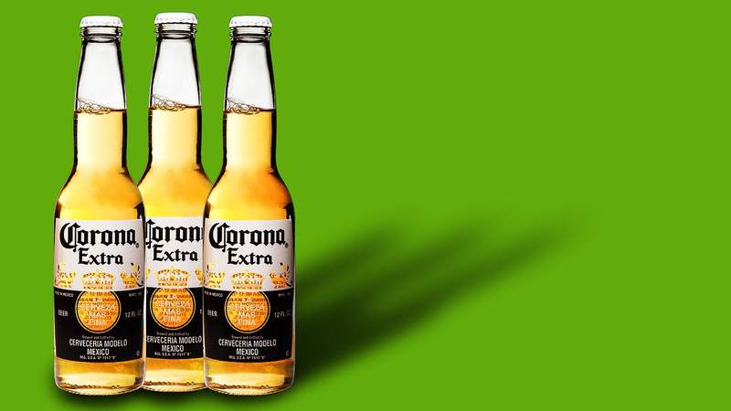 Pictured is Corona Extra beer.