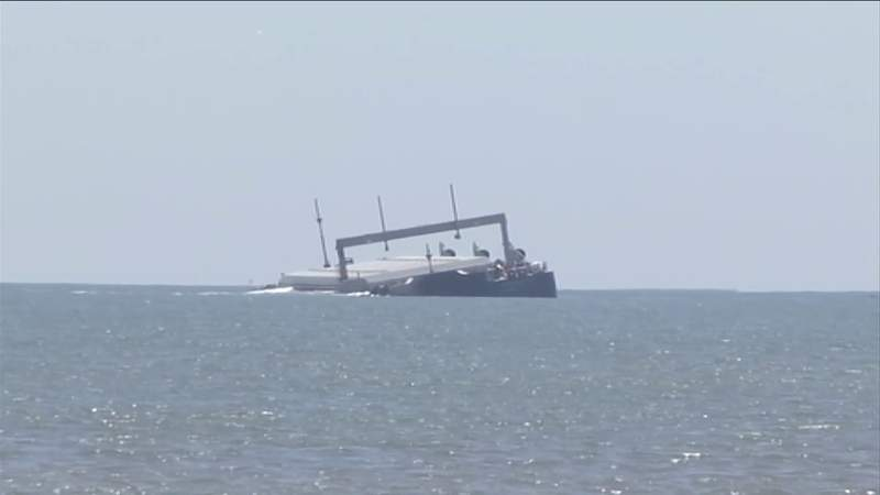 Expert expresses concerns about fallout of potential spill from stranded barge