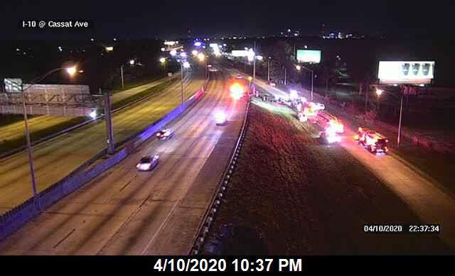 Crash shuts down on ramp to Interstate 10.