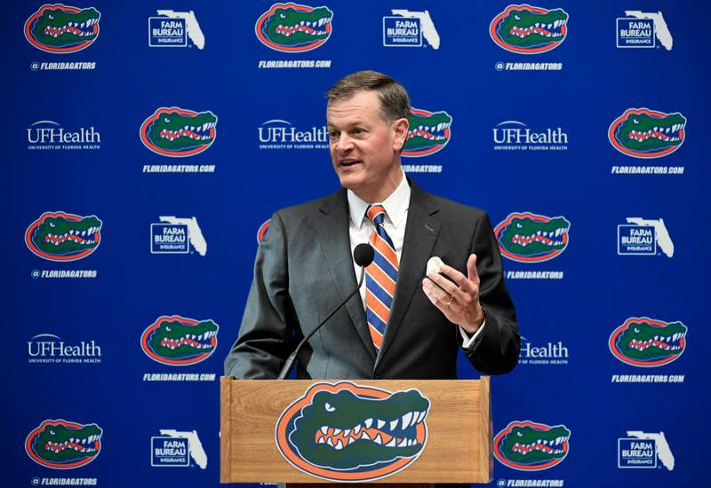 GAINESVILLE, FL - NOVEMBER 27: Florida Gators athletic director Scott Stricklin. (Photo by Rob Foldy/Getty Images)