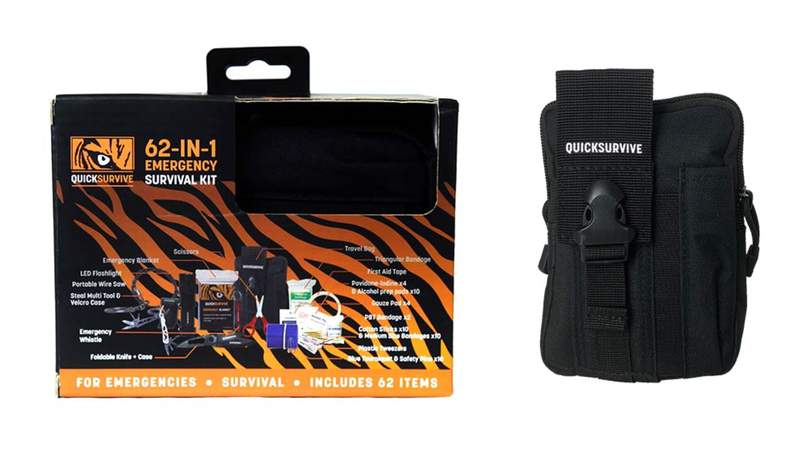 This 62 emergency survival and medical kit has you covered.