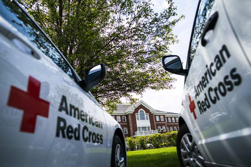 The exterior of an American Red Cross branch.