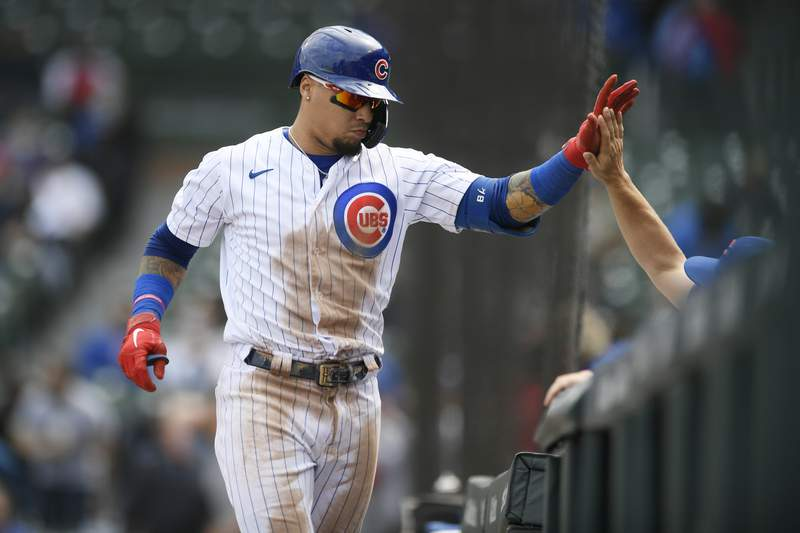 Arlington Country Day product Javier Baez made quite the play on the basepaths during a win over the Pirates on Thursday. (AP Photo/Paul Beaty)