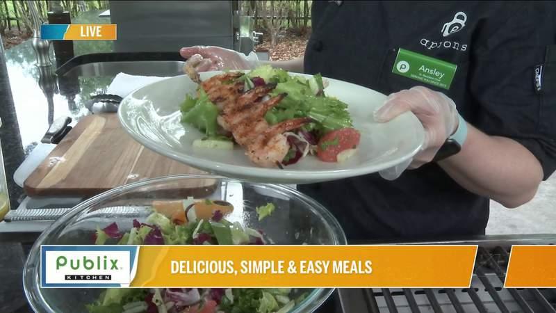 Publix Simple Meals Recipe: Barbecue Shrimp and citrus Fennel Salad | River City Live