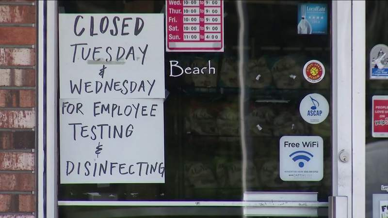 Jacksonville Beach bars & restaurants close for cleanings