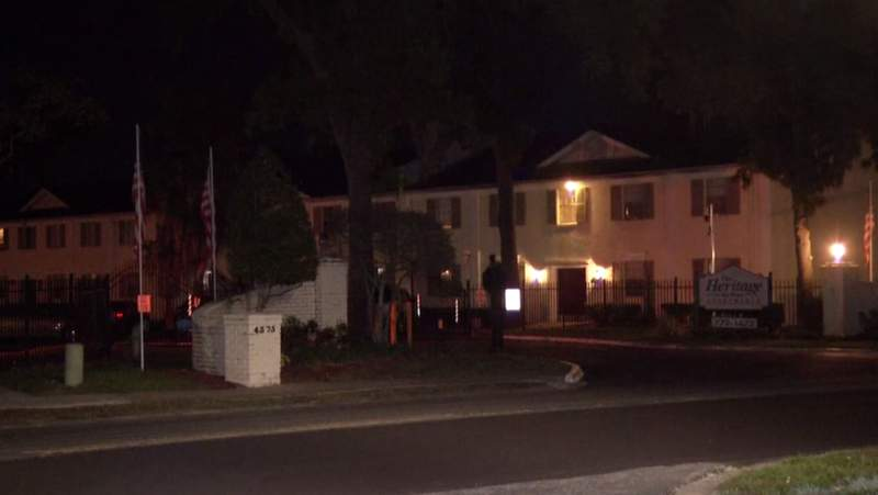 The Jacksonville Sheriff's Office and Jacksonville Fire Rescue responded to the Heritage Apartments after receiving 911 calls indicating there may have been a fire in one of the units.