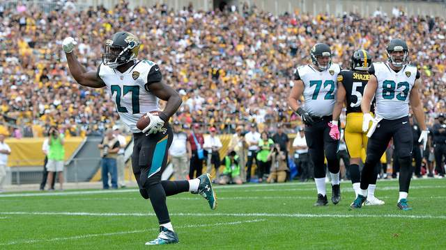 2017 Pick No. 4: RB Leonard Fournette - Last season the Jaguars committed to being a physical run first team. They were able to accomplish that goal thanks to Fournette. Despite missing three games, Fournette rushed for over 1,000 yards, and racked up 13 rushing touchdowns, including another four in the postseason.