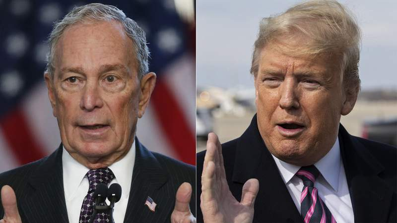 Former New York Mayor Michael Bloomberg and President Donald Trump
