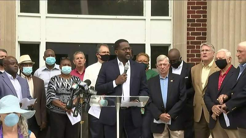 City leaders in Brunswick hold news conference ahead of court hearing
