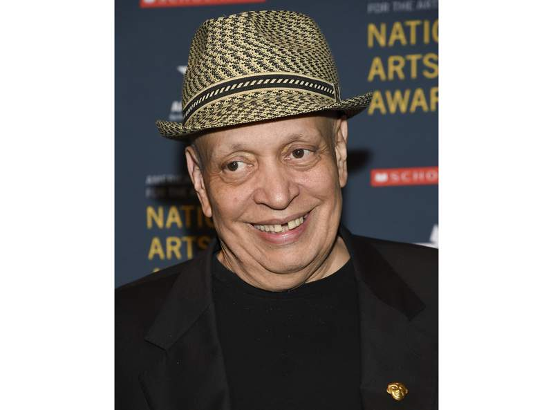 FILE - Author Walter Mosley attends the 2018 National Art Awards in New York on Oct. 22, 2018. Mosley, who is among the most acclaimed crime novelists of his time, is receiving an honorary National Book Award. He will formally receive the medal during a Nov. 18 ceremony that will be held online because of the coronavirus pandemic. (Photo by Evan Agostini/Invision/AP, File)