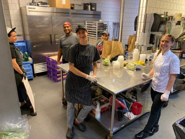 Chef Kerri Rogers, Chef Rebecca Reed and others pictured at Bellwether.
