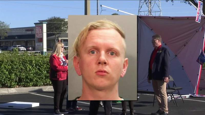 Man accused of driving van into GOP tent says he's thankful no one was hurt