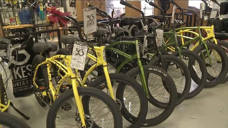 Dozens of bikes donated