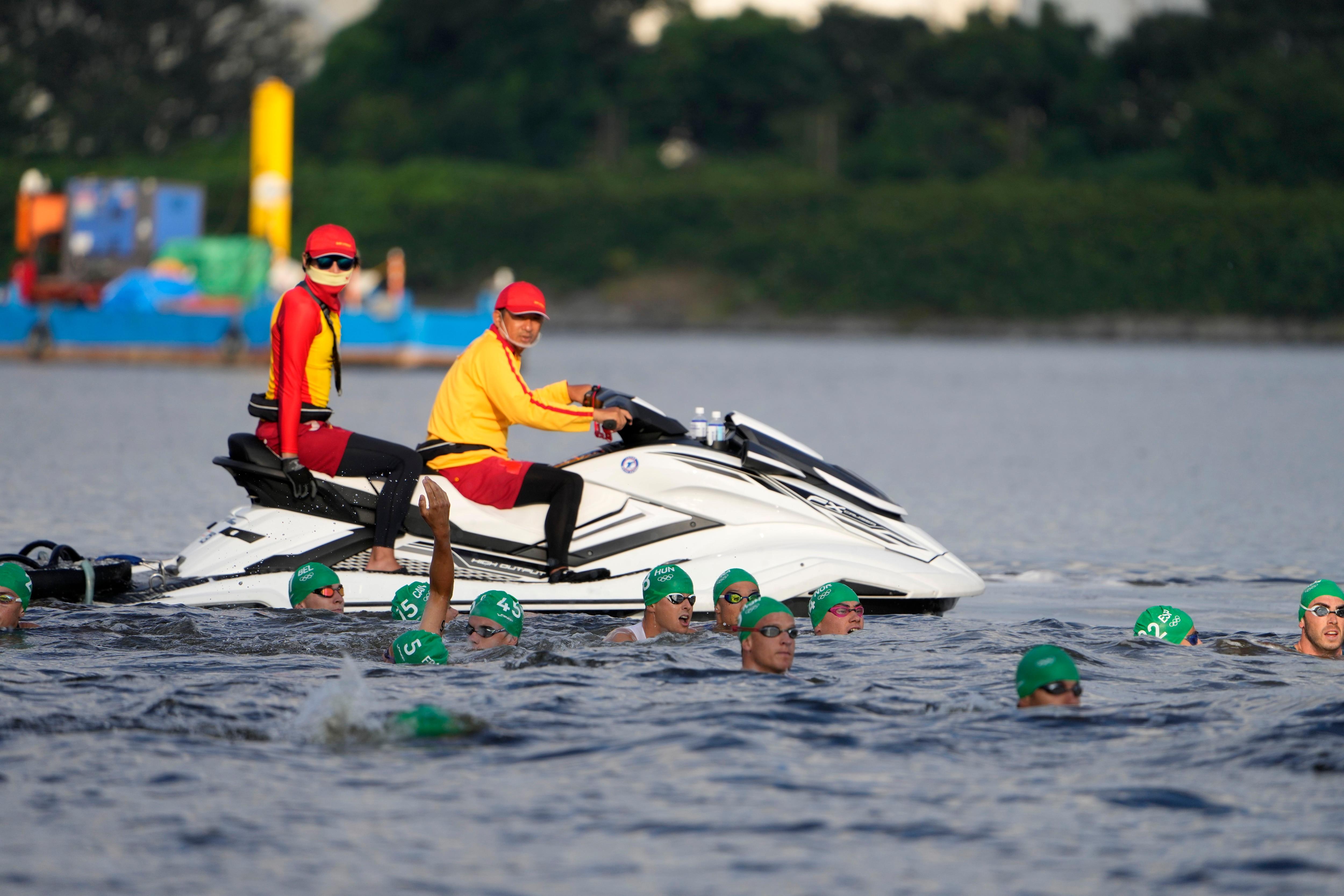 Take 2: Triathlon forced to restart when boat gets in way