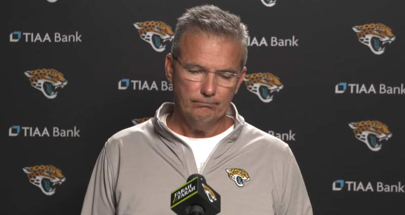 Jacksonville Jaguars head coach Urban Meyer during a Monday news conference.