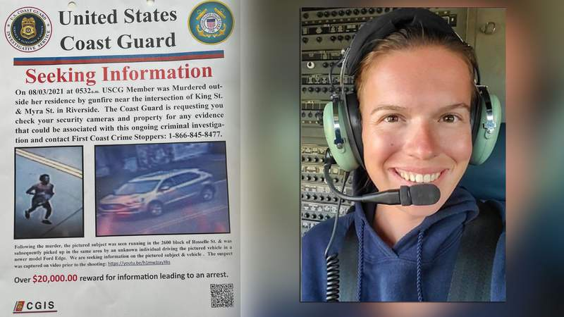 CGIS is distributing a flyer offering over $20,000 for information leading to an arrest in the murder of active-duty U.S. Coast Guard member Caroline Schollaert.