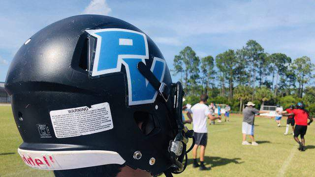 Ponte Vedra football players go through a spring practice on May 8.