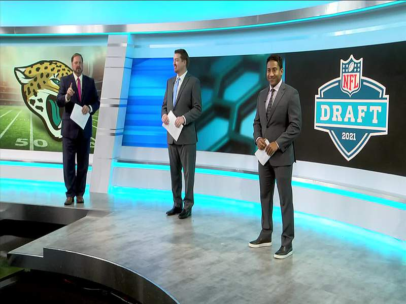 News4Jax sports team, Cole Pepper, Justin Barney and Jamal St. Cyr predict the first round in our 2021 NFL Mock Draft