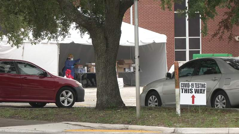 Several churches in the Jacksonville area have also partnered with the state and other organizations to offer free COVID-19 testing. Cars could be seen lined up Sanctuary at Mt. Calvery on Kings Road, where testing was offered over the weekend.