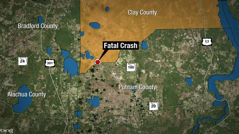 Fiery crash on State Road 100 in southern Clay County.