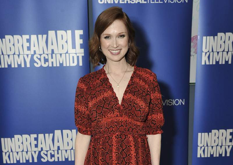 """FILE - Ellie Kemper attends the """"Unbreakable Kimmy Schmidt"""" FYC event on May 29, 2019, in Los Angeles. Kemper has apologized for participating in a debutante ball hosted by a St. Louis organization that she now says had an unquestionably racist, sexist and elitist past. (Photo by Richard Shotwell/Invision/AP, File)"""