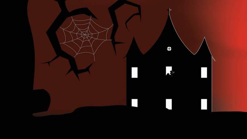 Halloween house graphic