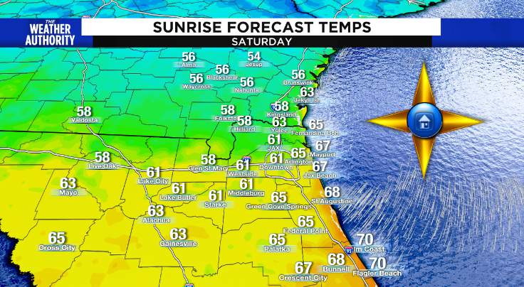 Cool and crisp start (except at area beaches)