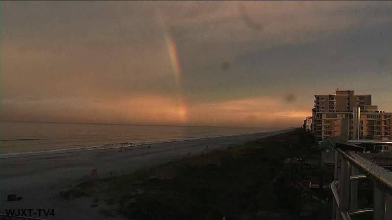 Weekend rainbows possible, look east after big rains, sunset is at 8:15 p.m.