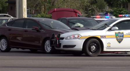 Scene of a crash on the Westside of Jacksonville.