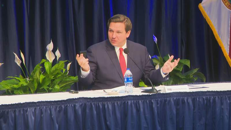 Gov. Ron DeSantis holds COVID-19 press briefing in Miami.