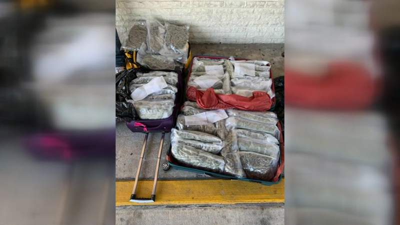 Federal agents track down 46 lbs. of pot in luggage at Jacksonville train station