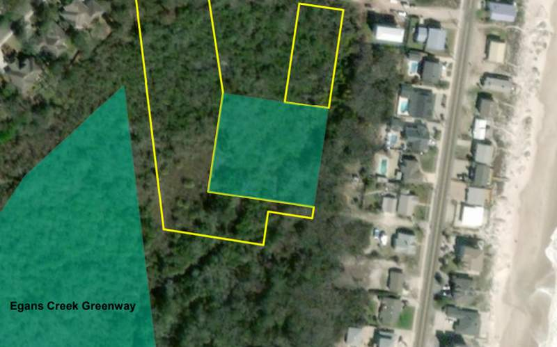 Location of new parcel of land purchased by North Florida Land Trust and the City of Fernandina Beach.