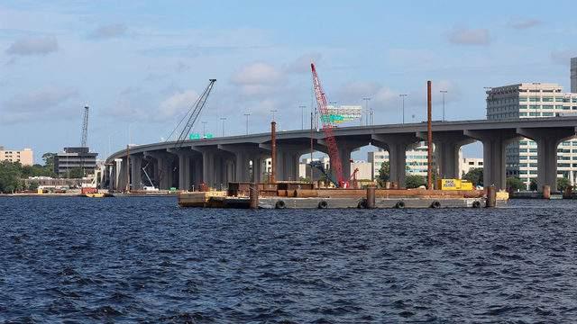 Work along the Fuller Warren Bridge continues. (Photo: Florida Department of Transportation)