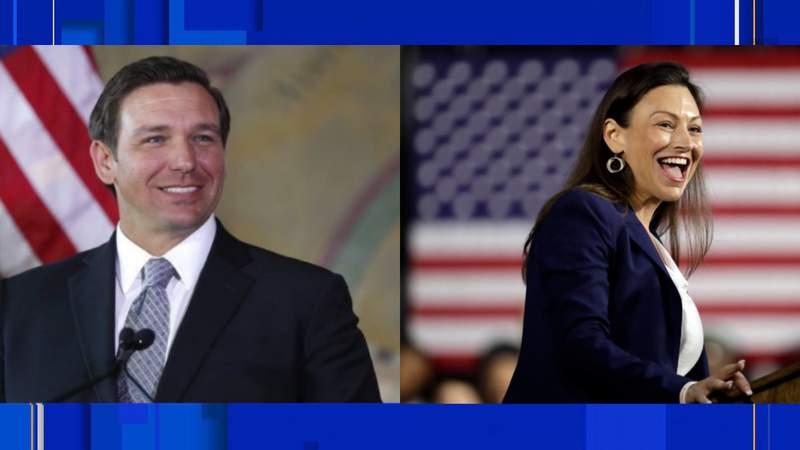 (Left) Gov. Ron DeSantis, (Right) Florida Agriculture Commissioner Nikki Fried
