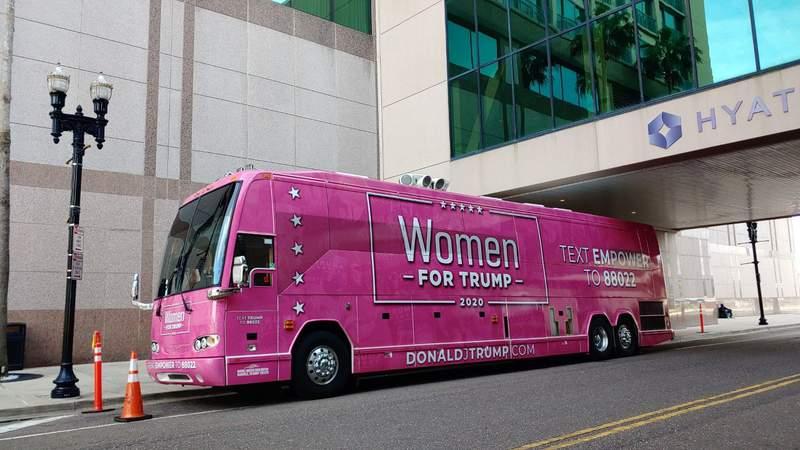 Women for Trump bus tour stops in Jacksonville