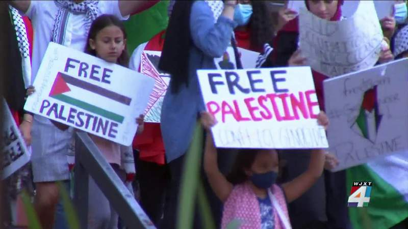 Protestors react to Palestine and Israel feud