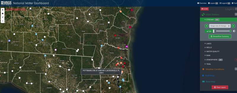 You can check real-time information on water levels, local weather observations, and flood forecasts all in one place on a computer, smartphone or other mobile device.