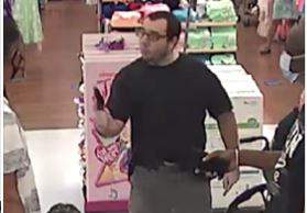 Palm Beach County releases a photo of a man wanted for assault with a firearm at a Walmart in Royal Palm Beach.