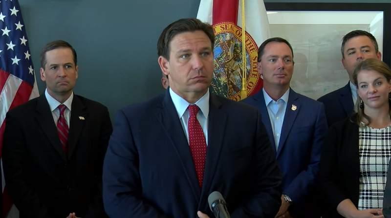 Gov. Ron DeSantis in Sarasota on 6-11-21.