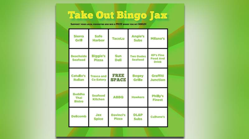 Help a local business by playing Take Out Bingo