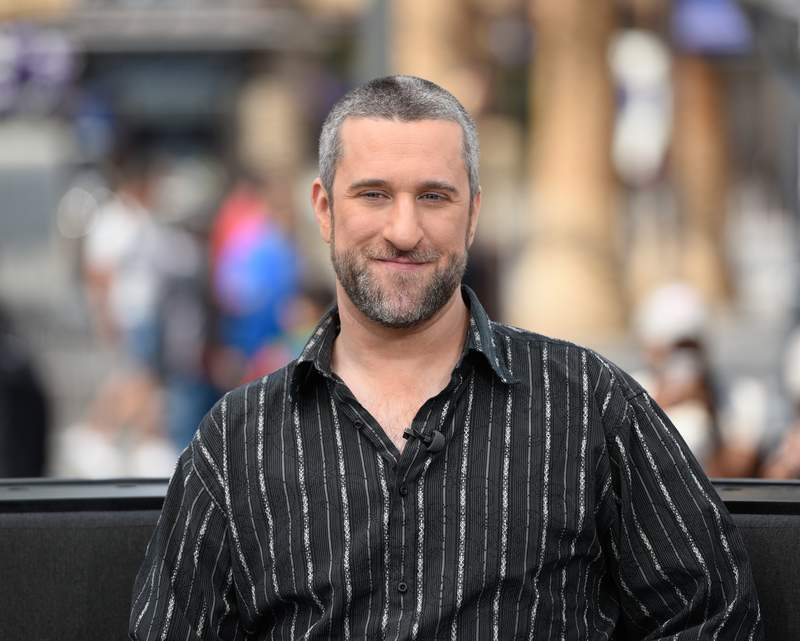 """Dustin Diamond visits """"Extra"""" at Universal Studios Hollywood on May 16, 2016 in Universal City, California. (Photo by Noel Vasquez/Getty Images)"""