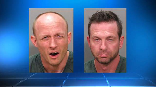 Jacksonville Sheriff's Office booking photos of Adrian Clemons (left) and Stephen Manning (right)