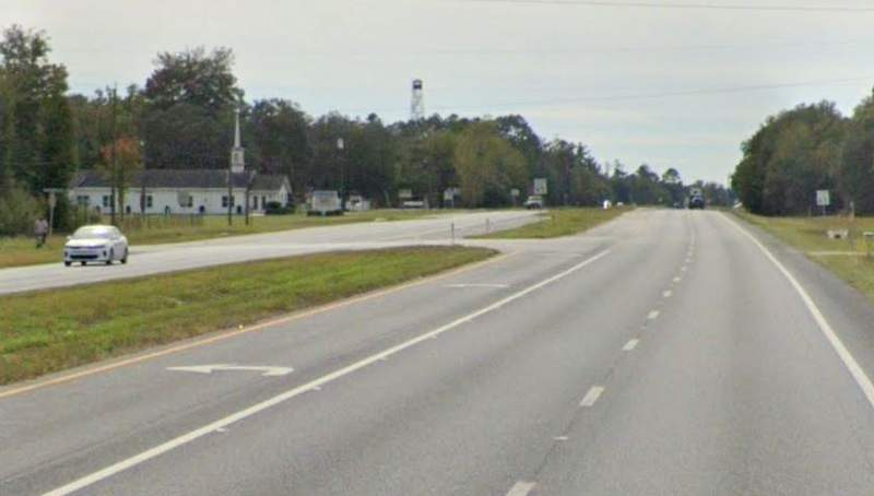 File photo of a stretch of US-301 near Lawtey where a deadly crash involving two bicyclists happened on Saturday.