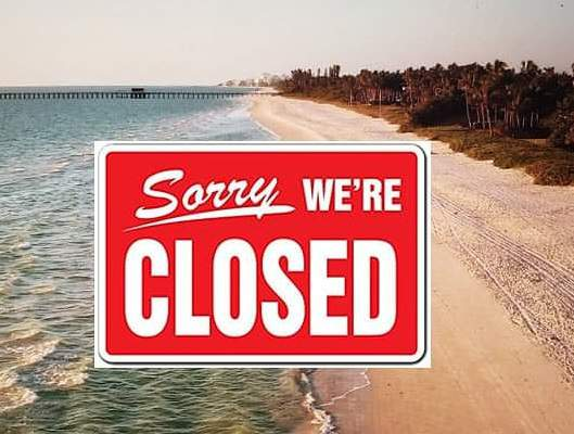 A notice on the city of Naples Police Department's Facebook page tells residents the beaches will close after a week of reopening.