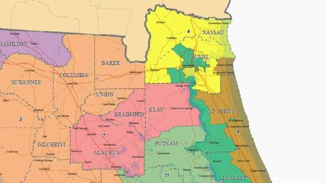 Map of proposed Florida Senate districts that was rejected by the state Supreme Court.