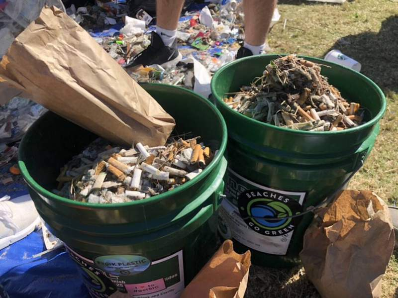 News4Jax reporter Zachery Lashway says among the hundreds of pounds of trash collected were thousands of cigarette butts. Great work, Jacksonville!!!