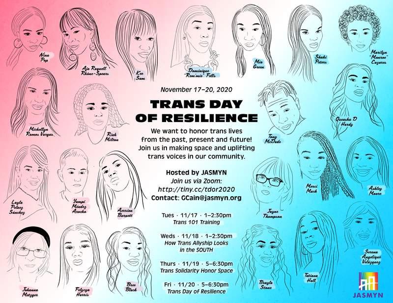 JASMYN Set to Commemorate Transgender Day of Remembrance