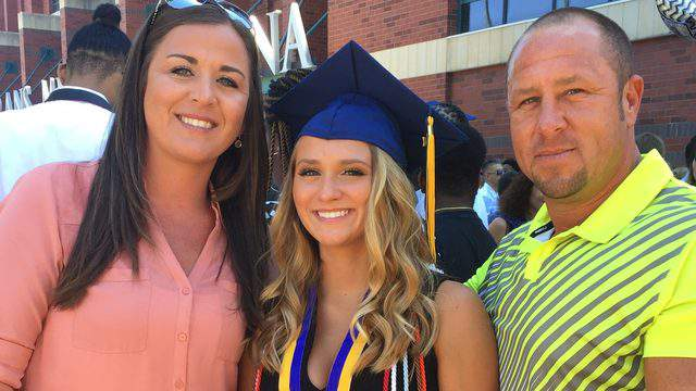 Trisha Garcia (left), Isabella Garcia and Robert Garcia pose after Sandalwood High School's graduation last year. Isabella was killed in a car accident on June 9, 2018. (Photo provided by Garcia family)